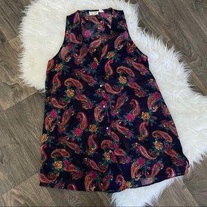 Vintage paisley Victoria secret sleeveless blouse
